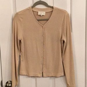 Cache camel colored knit top